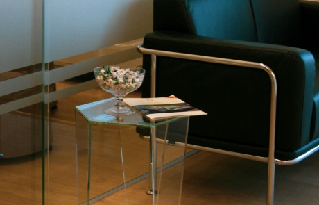 tavolino in vetro extrachiaro
